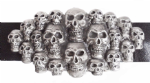A Multitude of Skulls Pewter Belt Buckle - BB1239
